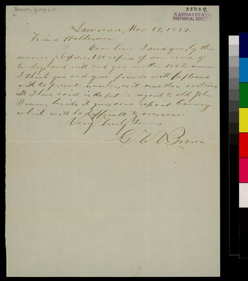 George W. Brown to John A. Halderman - Page