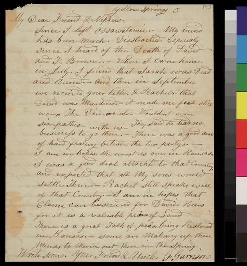 Gamaliel Garrison to Samuel L. Adair - Page