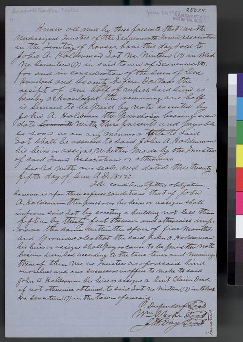 Leavenworth Association town shares memorandum - Page