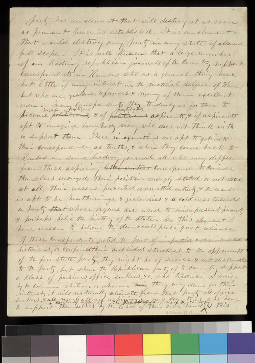 Charles Robinson to Henry Wilson - Page