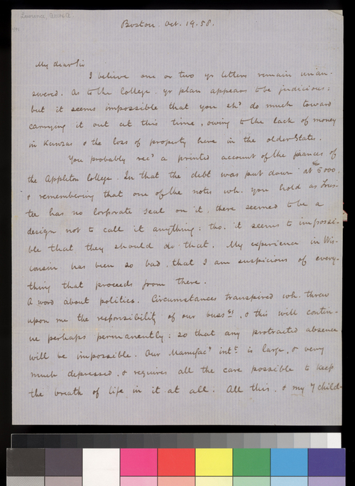 Amos A. Lawrence to Charles Robinson - Page