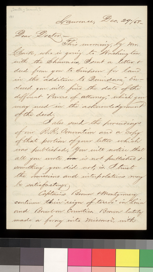 Samuel C. Smith to Charles Robinson - Page