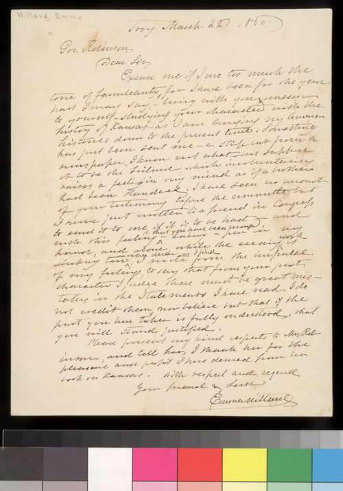 Emma Millard to Charles Robinson - Page