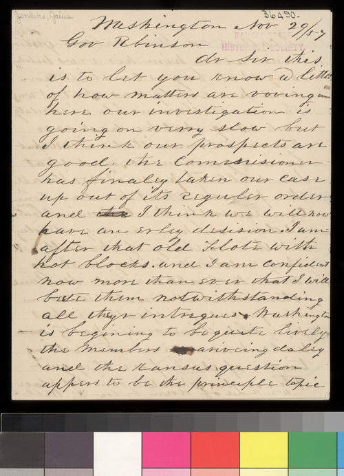 Gaius Jenkins to Charles Robinson - Page