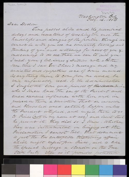 Andrew H. Reeder to Charles Robinson - Page