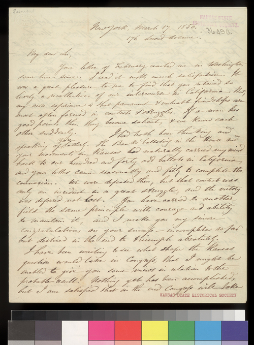 John C. Fremont to Charles Robinson - Page