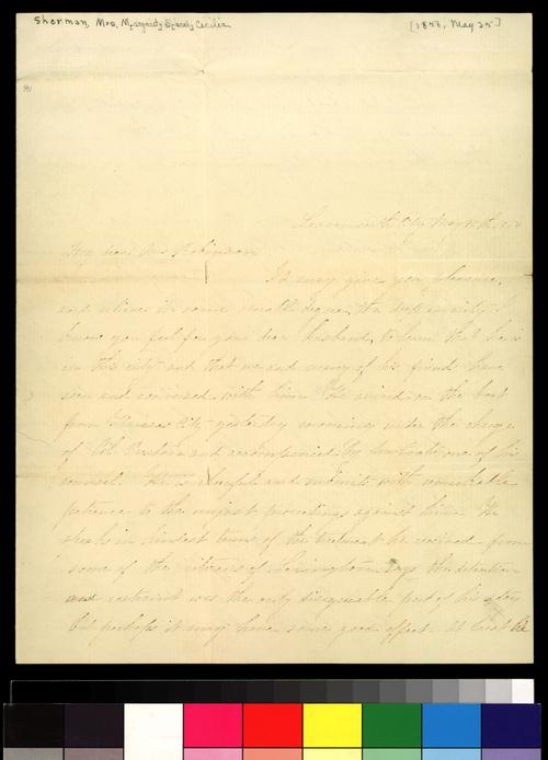 M. S. Cecilia Sherman to Sara Robinson - Page