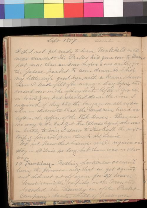 Joseph Trego's diary, 1857-1858 - Page