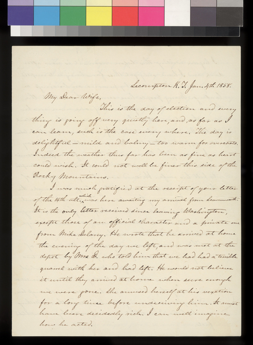 James W. Denver to his wife - Page