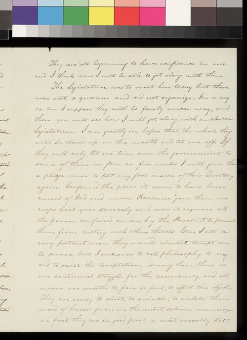 James W. Denver to his dear wife - Page