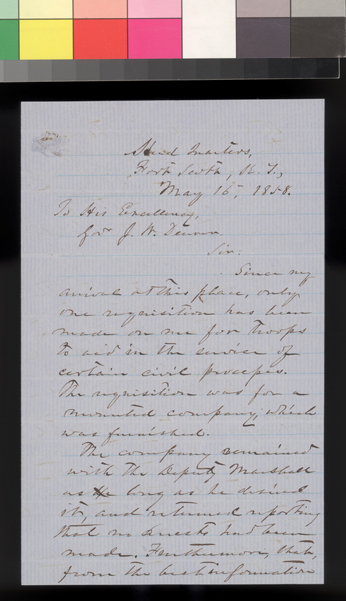 Thomas J. Wood to James W. Denver - Page