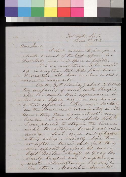 George W. Clarke to Samuel J. Jones - Page