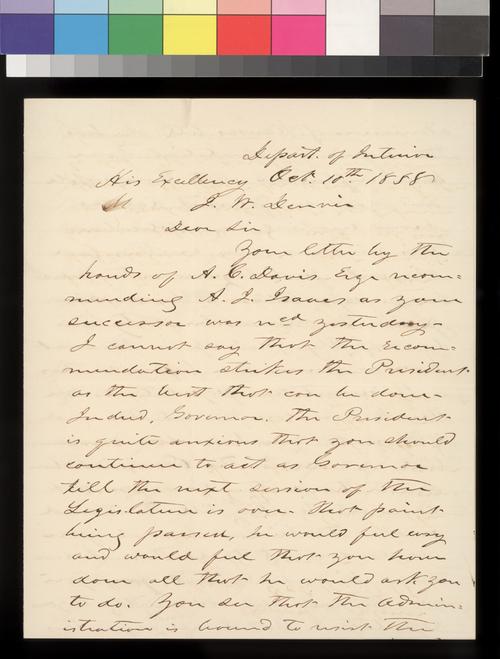 J. Thompson to James W. Denver - Page
