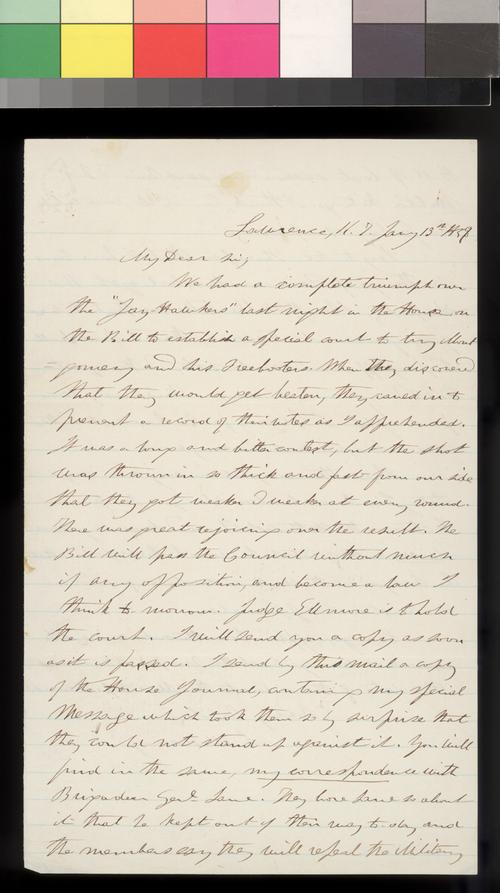 Samuel Medary to James W. Denver - Page
