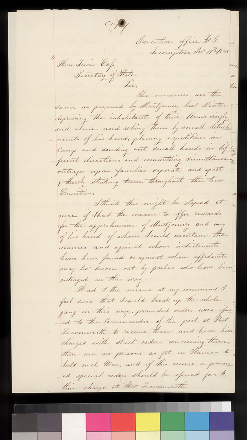 Hugh S. Walsh to Lewis Cass - Page
