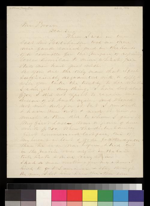 Augustus Wattles to George W. Brown - Page