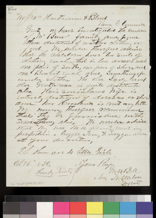 George W. Bell to William Hutchinson and James Blood - Page