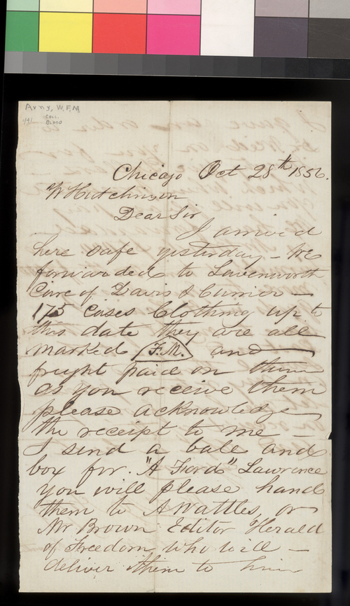 W. F. M. Arny to William Hutchinson - Page