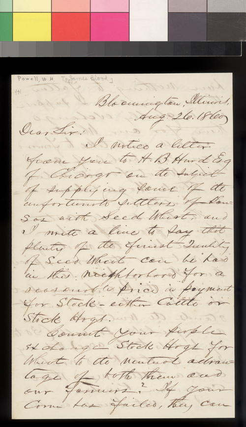W. H. Powell to James Blood - Page