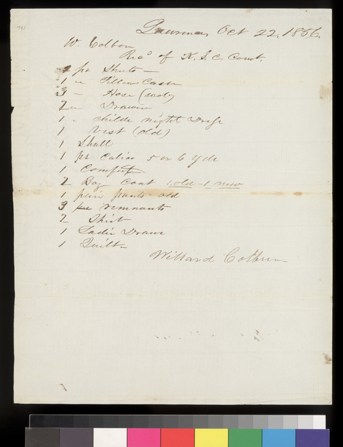 Receipt, Kansas State Central Committee - Page