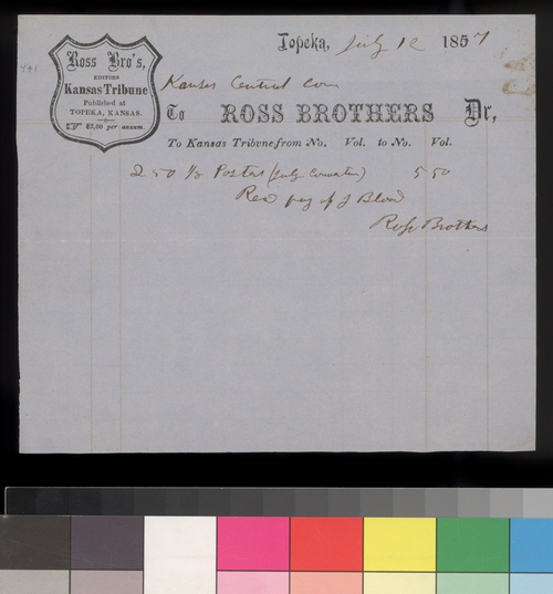 Kansas Central Committee payment to Ross Brothers - Page