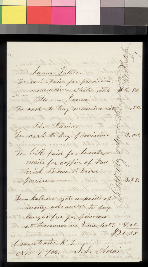 Samuel L. Adair to William Hutchinson - Page