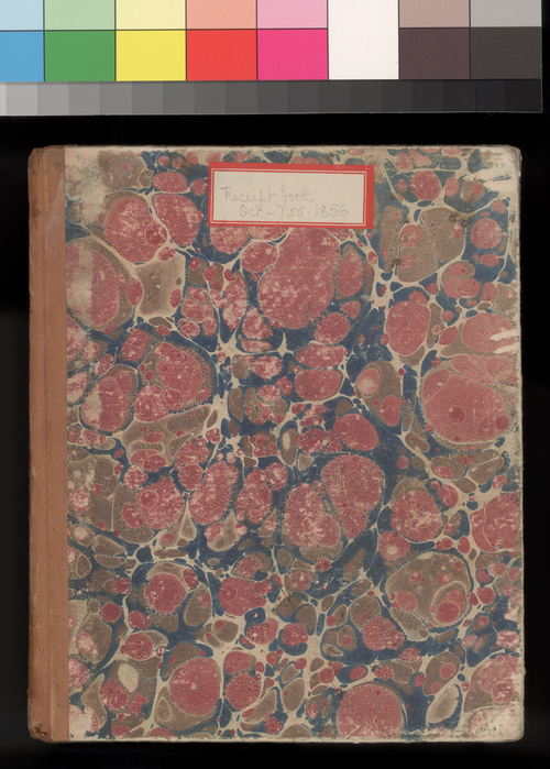 Receipt Book, October-November, 1856 - Page