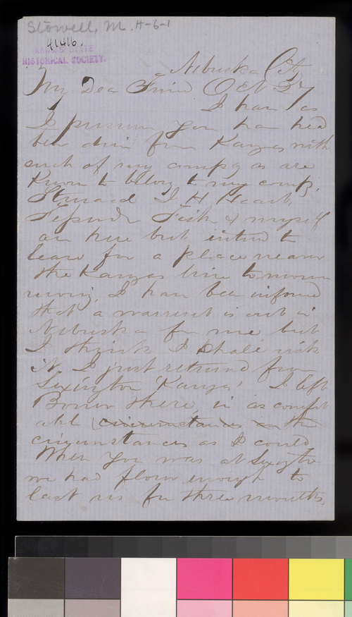 Martin Stowell to Thomas W Higginson - Page