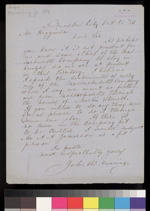 John B. Dunning to Thomas W. Higginson - Page
