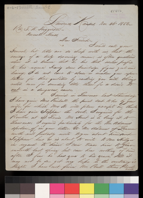 Samuel C. Smith to Thomas W. Higginson - Page