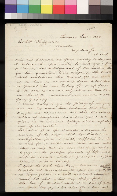 Caleb S. Pratt to Thomas W. Higginson - Page