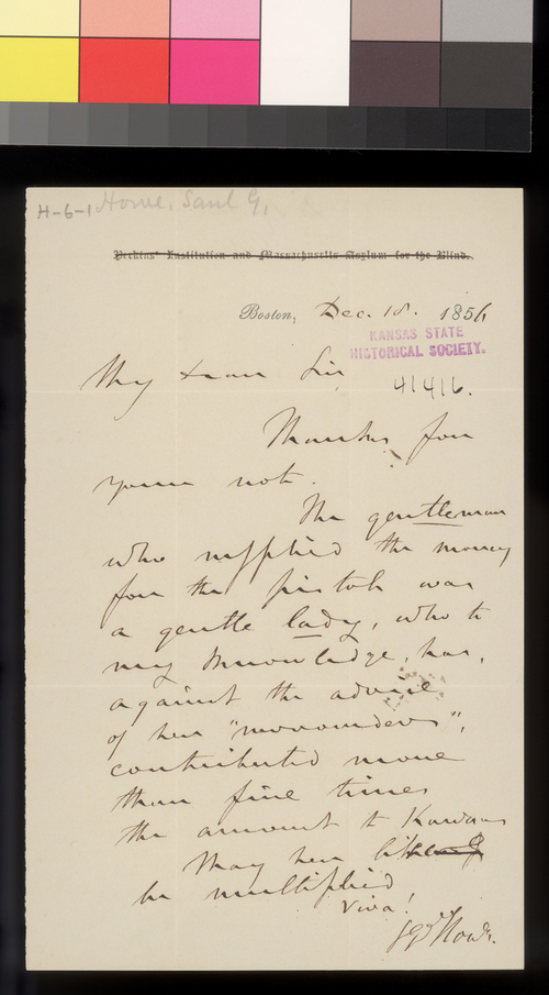 Samuel G. Howe to Thomas W. Higginson - Page