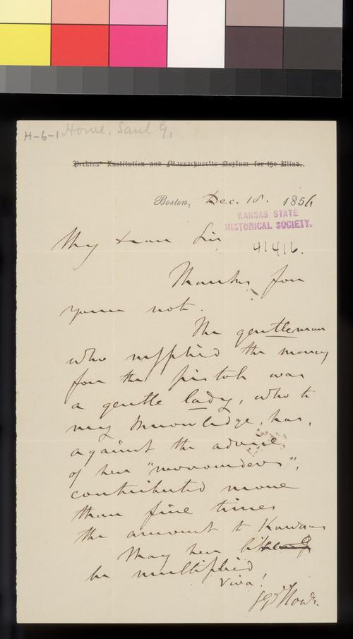 Samuel G. Howe to Thomas W. Higginson - Page
