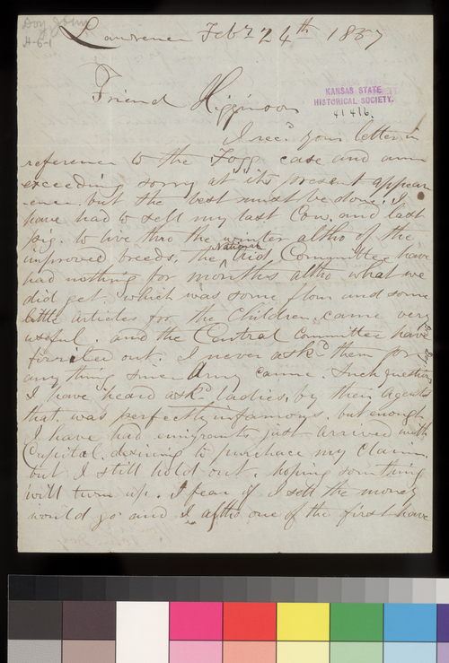 John Doy to Thomas W. Higginson - Page