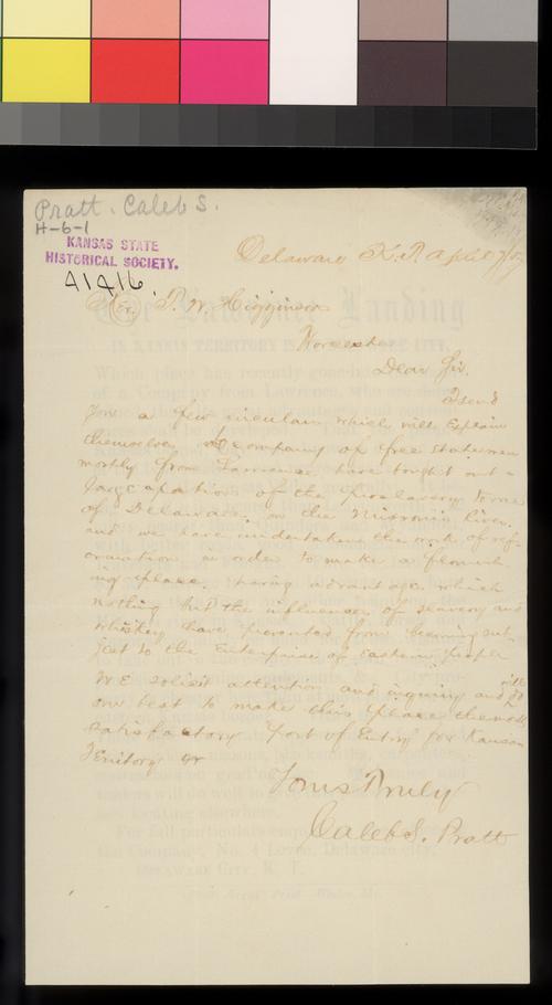 Caleb S. Pratt to Thomas W. Higginson - Page