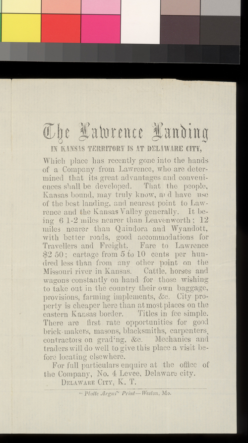 The Lawrence Landing - Page