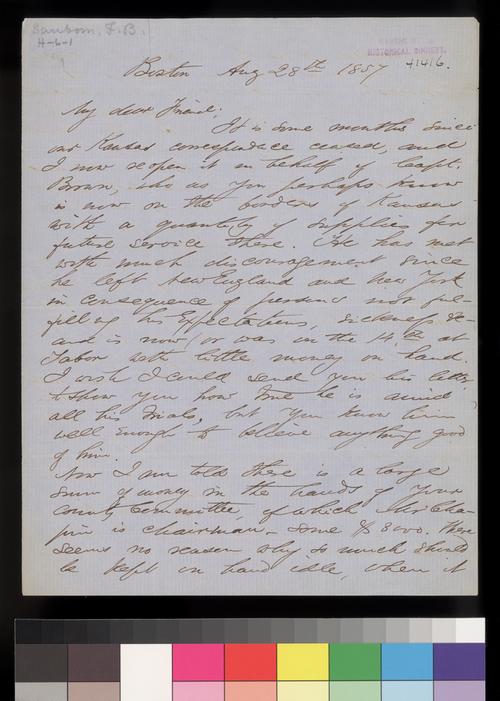 Franklin B. Sanborn to Thomas W. Higginson - Page