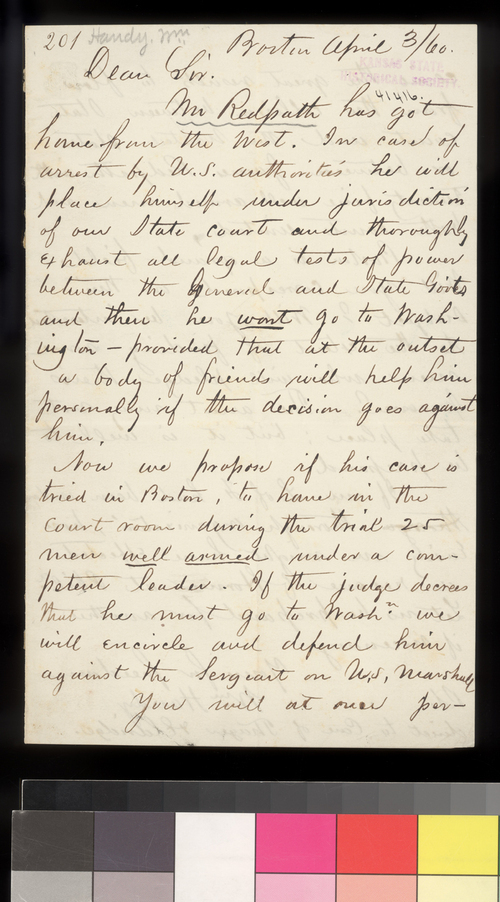 William Handy to Thomas W. Higginson - Page
