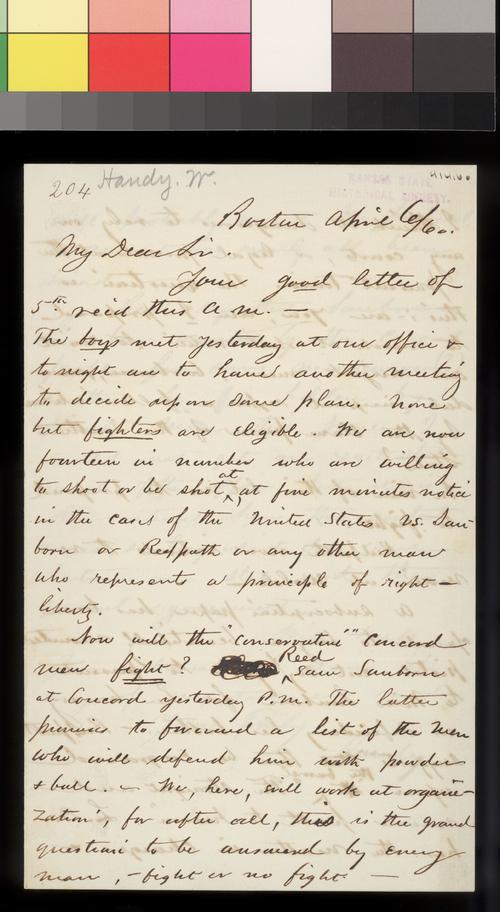 William Handy to Thomas W. Higginson - Page