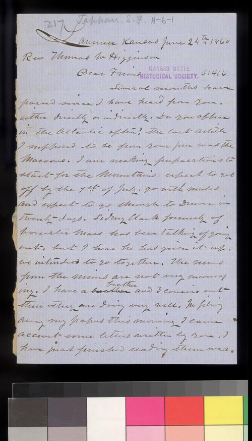 Samuel F. Tappan to Thomas W. Higginson - Page