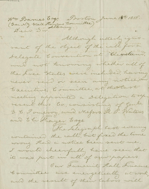 Thomas H. Webb to Wm. Barnes - Page