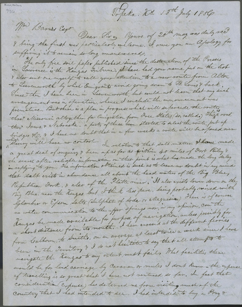 Nelson Rusk to Wm. Barnes - Page
