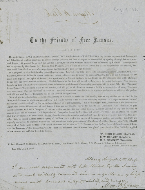 Circular, To the Friends of Free Kansas - Page