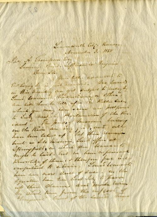 Sherman [W. T.] & Ewing [Thomas]  to Thomas A. Thompson - Page