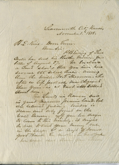 William T. Sherman to H. E. Ring - Page