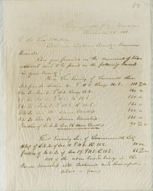 William T. Sherman and Thomas Ewing to Calhoun County tax collector - Page