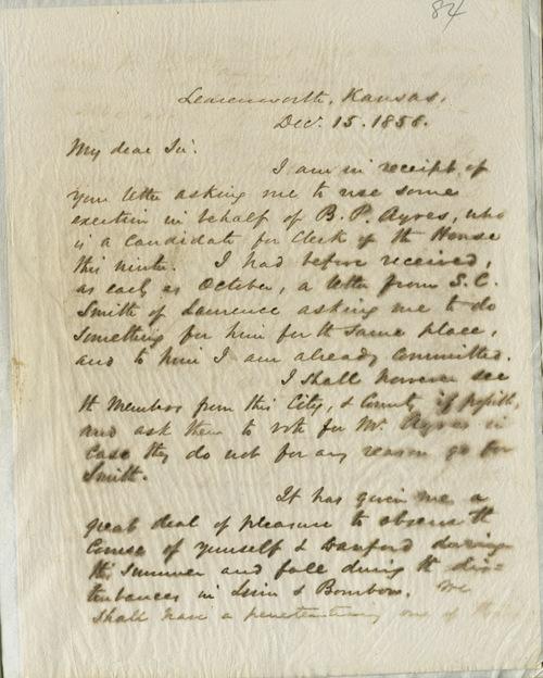 Thomas Ewing, Jr. to Robert B. Mitchell - Page