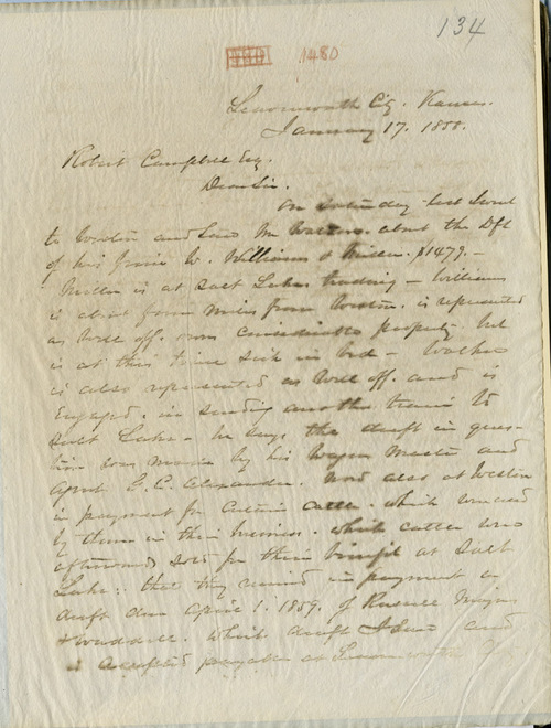 W.T. Sherman to Robert Campbell - Page