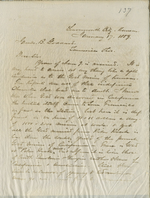 W.T. Sherman to James B. Goddard - Page