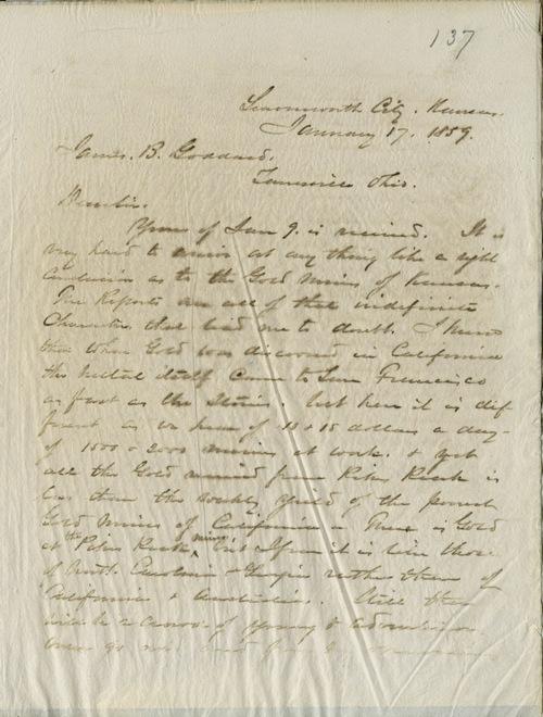 W.T. Sherman to James B. Goddard - Page